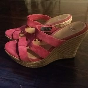 Ugg pink wedge heels